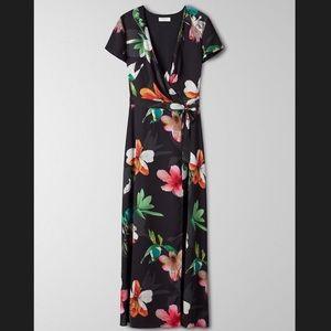 Aritzia Babaton Lyndon Dress Black Floral XS NWT